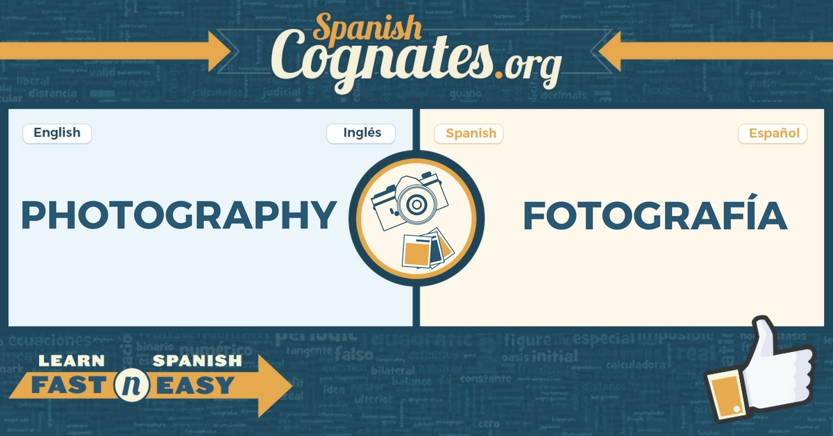 Spanish Cognates: photography-fotografía