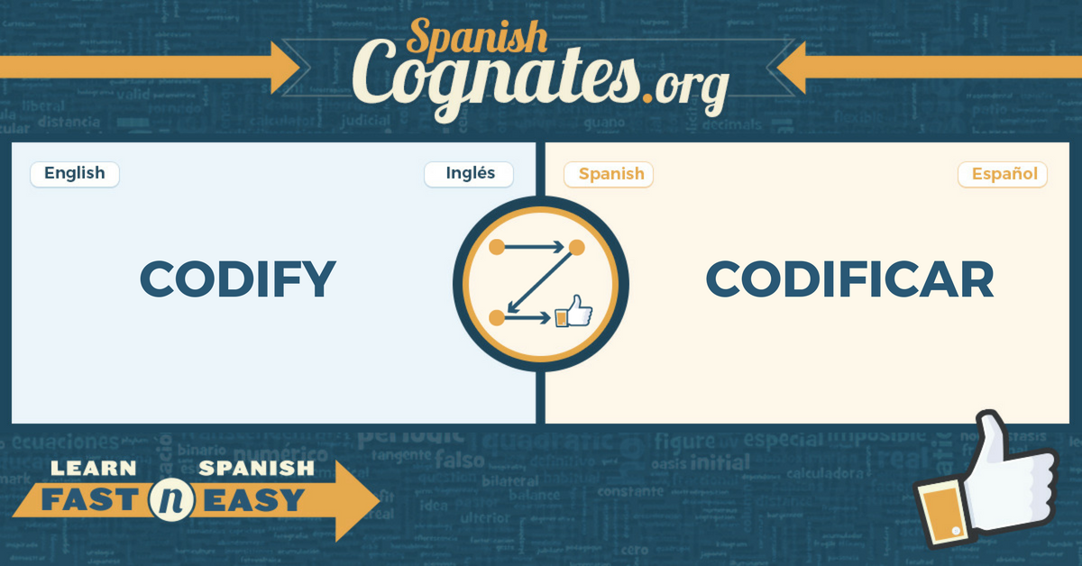 Spanish Cognates: codify-codificar