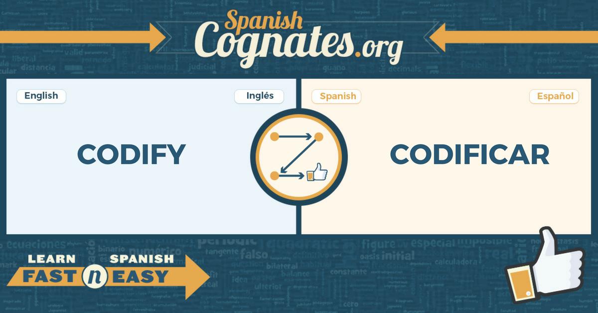 Spanish Cognates: codify-codificar