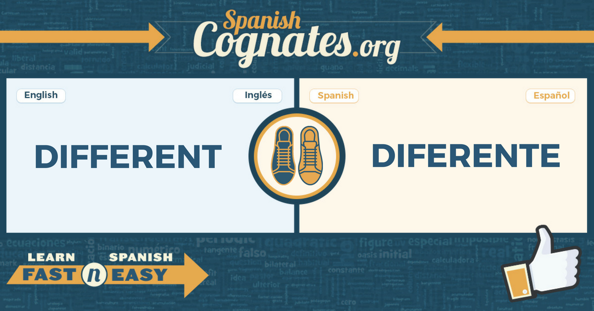 Spanish Cognates: different-diferente